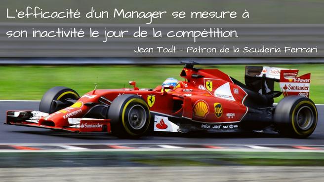 L'efficacité d'un Manager comme celle d'un commercial 2.0 se mesure à son inactivité le jour de la compétition
